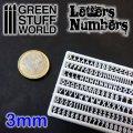 グリーンスタッフワールド[GSWD-1436]ジオラマ素材 プラ製文字/数字セット 3mmサイズ