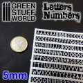 グリーンスタッフワールド[GSWD-1437]ジオラマ素材 プラ製文字/数字セット 5mmサイズ