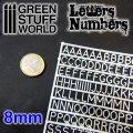グリーンスタッフワールド[GSWD-1438]ジオラマ素材 プラ製文字/数字セット 8mmサイズ