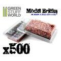 グリーンスタッフワールド[GSWD-9206]1/35 ジオラマ素材 模型用レンガセット 赤 500個パック