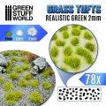 グリーンスタッフワールド[GSWD-2336]草むら 長さ2mmリアルステックグリーン(粘着剤付)