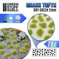 グリーンスタッフワールド[GSWD-2337]草むら 長さ2mmドライグリーン(粘着剤付)