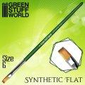 グリーンスタッフワールド[GSWD-2456]グリーンシリーズ 合成毛 平筆 サイズ 6