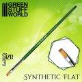 グリーンスタッフワールド[GSWD-2457]グリーンシリーズ 合成毛 平筆 サイズ 3