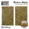 グリーンスタッフワールド[GSWD-10339]ジオラマ素材 芝マットカット版 茶色く枯れた荒野