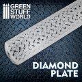 グリーンスタッフワールド[GSW-2509]ローリングピン ダイヤモンドプレート