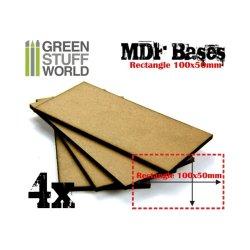 画像1: グリーンスタッフワールド[GSWD-9139]長方形型ベースセット(縦100mm×横50mm) 4枚入