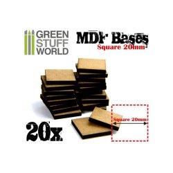 画像1: グリーンスタッフワールド[GSWD-9142] 正方形型ベースセット(一辺20mm) 20枚入