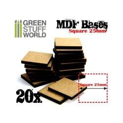 画像1: グリーンスタッフワールド[GSWD-9143] 正方形型ベースセット(一辺25mm) 20枚入