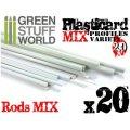 グリーンスタッフワールド[GSWD-9200]ABS Plasticard - Profile - 20x RODs Variety Pack