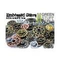 グリーンスタッフワールド[GSWS-9201] Embossed SteamPunk GEARS and COGS Beads 85gr