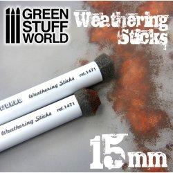画像1: グリーンスタッフワールド[GSWD-9312]ウェザリングスポンジブラシ 15mm径2本セット