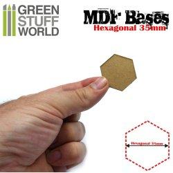 画像3: グリーンスタッフワールド[GSWD-9356]MDFベース 六角形型セット(直径35mm) 10枚入