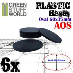 画像1: グリーンスタッフワールド[GSWD-9889]プラスチックディスプレイベース 楕円形型 Sサイズ
