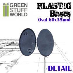 画像3: グリーンスタッフワールド[GSWD-9889]プラスチックディスプレイベース 楕円形型 Sサイズ
