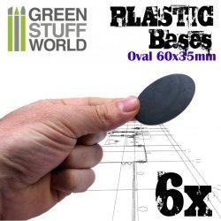 画像2: グリーンスタッフワールド[GSWD-9889]プラスチックディスプレイベース 楕円形型 Sサイズ