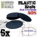 グリーンスタッフワールド[GSWD-9890]プラスチックディスプレイベース 楕円形型 Mサイズ