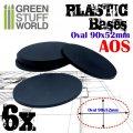 グリーンスタッフワールド[GSWD-9891]プラスチックディスプレイベース 楕円形型 Lサイズ