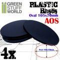 グリーンスタッフワールド[GSWD-9892]プラスチックディスプレイベース 楕円形型 LLサイズ