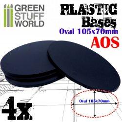 画像1: グリーンスタッフワールド[GSWD-9892]プラスチックディスプレイベース 楕円形型 LLサイズ