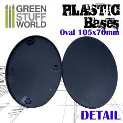 画像3: グリーンスタッフワールド[GSWD-9892]プラスチックディスプレイベース 楕円形型 LLサイズ