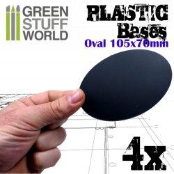 画像2: グリーンスタッフワールド[GSWD-9892]プラスチックディスプレイベース 楕円形型 LLサイズ