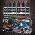 グリーンスタッフワールド[GSWC-9912]水性アクリル塗料 メタルカラーセット - レギュラー(6本入)
