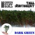 グリーンスタッフワールド[GSWD-9924]ジオラマ素材 背丈のある潅木[ダークグリーン]4cm