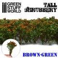グリーンスタッフワールド[GSWD-9930]ジオラマ素材 背丈のある潅木[ブラウングリーン]4cm