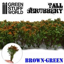 画像1: グリーンスタッフワールド[GSWD-9930]ジオラマ素材 背丈のある潅木[ブラウングリーン]4cm