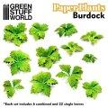 グリーンスタッフワールド[GSWD-10365]ジオラマ素材 ペーパープランツ ゴボウの葉