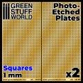 グリーンスタッフワールド[GSWD-10104]エッチングメッシュプレート 1mm正方形(大)