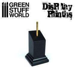 画像1: グリーンスタッフワールド[GSWD-1805]展示台:バストモデル用(3x3cm)黒