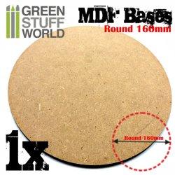 画像1: グリーンスタッフワールド[GSWD-9843] MDF丸型ベースセット (160mm) 1枚入