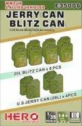 ヒーローホビーキッツ[HHKE35006]1/35 WW2連合軍と米軍車両用ジェリー缶とブリッツ缶(12個)