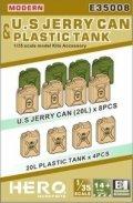 ヒーローホビーキッツ[HHKE35008]1/35 現用米軍ジェリー缶とプラスチックタンク (12個)