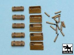 画像2: BLACK DOG[T48015]1/48 WWII独 パンター弾薬箱&弾薬セット(10箱+砲弾/薬莢)