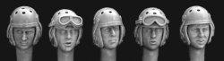画像1: Hornet[HUH08]US WW2タンカーヘルメット付ヘッドセット(5種)