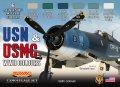 ライフカラー[CS-46]WWII 米 WWIIアメリカ海軍/海兵隊航空機カラーセット