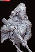 ライフミニチュア[LM-B024]1/10 WWII 露/ソ 胸像 ソビエト赤軍女性スナイパー(世界限定300個)