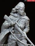 ライフミニチュア[LM-16004]1/16 WWII 露/ソ ソビエト赤軍女性スナイパー 全身像