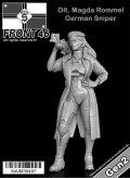 マイム[MAIM35497]Olt. Magda Rommel / German Sniper -Front46- / 1:35