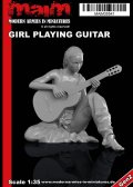 マイム[MAIM35541]Girl playing Guitar / 1:35