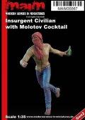 マイム[MAIM35567]Insurgent Civilian with Molotov Grenade / 1:35