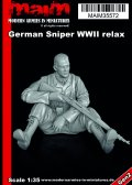 マイム[MAIM35572]German Sniper WWII relaxing / 1:35