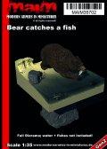 マイム[MAIM35702]Bear catches a fish (full Diorama) / 135
