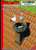マイム[MAIM35717]Storks + nest / 1:35