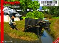 マイム[MAIM35752]Asian Farmer with hat + Cow + Plow #1 / 1:35
