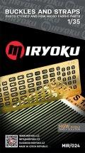 ミリョク[MIR024]1/35 サイドリリースバックル&1mm幅ストラップセット