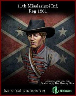 画像1: MJ Miniatures[MJ16-003]1/16 第11ミシシッピ歩兵連隊 1861